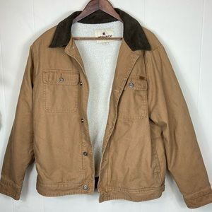 Woolrich Sherpa Lined Corduroy Collared Jacket